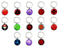 NARUTO SHARINGAN EYE ANIME THEMED KEYRING KEYCHAIN KEYFOB.