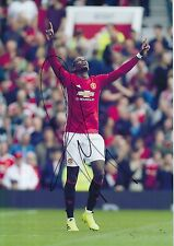 MANCHESTER UNITED HAND SIGNED PAUL POGBA 12X8 PHOTO PROOF 1.