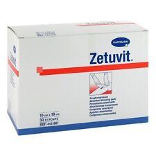 ZETUVIT Saugkompresse unsteril 10x10cm 30St PZN 01905507