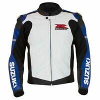 Suzuki GSXR Motorcycle Leather Jackets Racing Biker MotoGp Sports Protective New