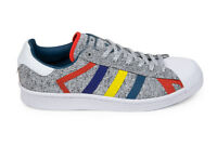 Adidas Originals x White Mountaineering Superstar in Light Grey/Multi AQ0352