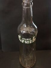 Vintage ORANGE CRUSH Soda BOTTLE King Size 12oz Unique Size HTF Retro POP  L2