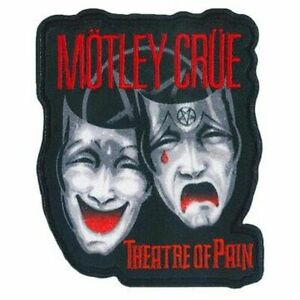 MOTLEY CRUE - THEATRE OF PAIN - EMBROIDERED PATCH - BRAND NEW - MUSIC BAND 5320