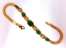 4ct Vintage Natural Jade Bracelet 14kt