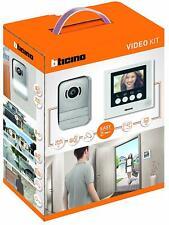"""BTICINO 316913 KIT VIDEOCITOFONO 2 FILI 4/3"""" A COLORI MONO/BIFAMILIARE BIANCO"""