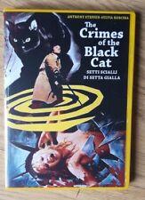 THE CRIMES OF THE BLACK CAT - SETTI SCIALLI DI SETTA GIALLA-1972 GIALLO - DVD-R.