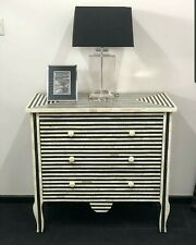 Black And White Chest Of 3 Drawer And Dresser