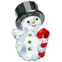 Swarovski Crystal Creation 5464886 Snowman With Candy Cane RRP $179