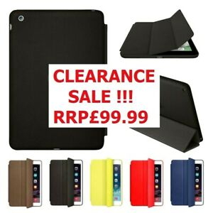 OFFICIAL Luxury Smart Stand PU Leather Shockproof Case Cover for All iPad Models