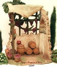 "Fontanini Italy 7.5"" Wine Maker Shop Nativity Village Bldg Accessory 54844 Nib"