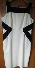 BNWT M & S  DRESS SIZE 16 SLEEVELESS BODYCON SHIFT COTTON WITH STRETCH