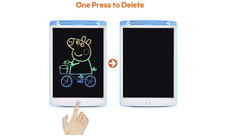 """NEW LCD Tablet 10"""" Coloured Writing/Drawing Board/ Pad for Kids & Adults"""