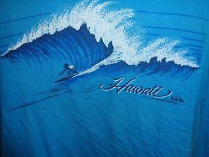 80s L/XL VTG Hawaii Surfing Wave tourist single stitch Hanes t-shirt surfer