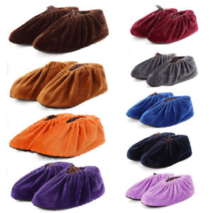 Flannel Shoes Covers Household Reusable Thick Non-slip Indoor Foot Cover Dust