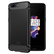 TUDIA OnePlus 5 Case Carbon Fiber Design Lightweight Tamm TPU Bumper Shock AB