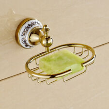 Luxury Gold Finish Brass Wall Mounted Bathroom Soap Basket Dish Holder