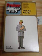 1:35 Preiser 64367 Klarinette, weibliche Figur. Militär. Unbemalt. Bausatz. OVP