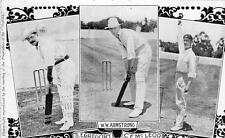 Cricket Armstrong Gregory McLeod old pc used 1905  The Captain magazine for boys