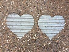 SET OF TWO Galvanized/Metal/Heart Shaped/Wall Decor/Plaque. LOVING HEART.