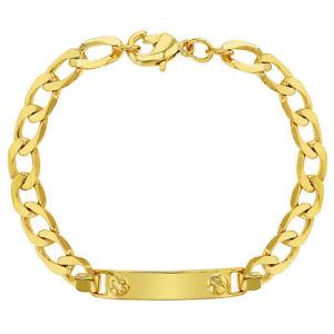 18k Vergoldet Tag Id Armband Für Kleinkind Identifizierung 12.7cm