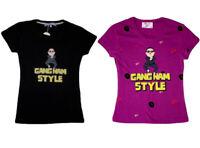 Womens Girls T-Shirt PSY Inspired Gangnam Style T Shirt - Crew Neck / V-Neck