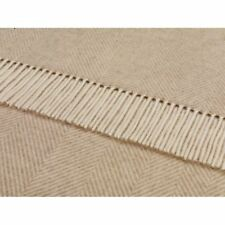 100% Lambswool Herringbone Contemporary Decorative Throws