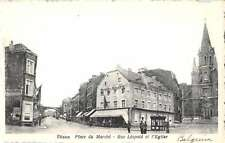 Dison Belgium view of Leopold St and Church antique pc Z13514