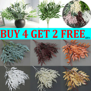 Artificial Fake Leaves Plants Willow Leaf Flowers Christmas Wreath Garden Decor*