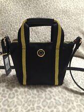 Tommy Hilfiger Women Black/Gold Shopper Crossbody Shoulder Handbag Bag NWT 69$