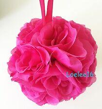 "6"" Flower Kissing Ball Wedding Silk Rose Party Pomander"