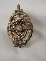 Vintage  Military Russian Brass Badge From 1952's Estate find