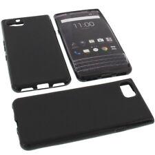 Tasche für Blackberry KeyOne Handytasche Schutz Hülle TPU Gummi Case Schwarz