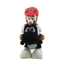 "Little Buddy Super Mario Plushie Mario Riding on Black Yoshi Plush Doll Toy 10"""
