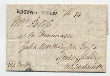 1792 New Brunswick to Springfield MA via Boston ship stampless [45.232]