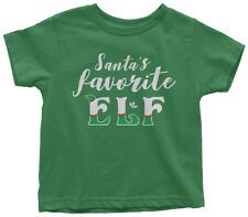 Santa's Favorite Elf Toddler T-Shirt Cute Christmas Holiday Gift