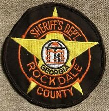 """vintage """"ROCKDALE COUNTY SHERIFF'S DEPT"""" PATCH ga GEORGIA LAW police OFFICER WOW"""