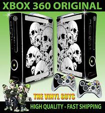 XBOX 360 Teschi Dark Gothic GRIM console Adesivo Skin NUOVI E 2 SKIN Pad