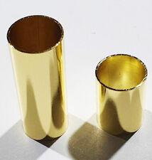 More details for guitar slides pack of 2 extra large xl finger knuckle brass 23mm blues metal