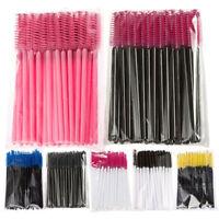 50/100 pcs Plastic Mascara Wands Disposable Eyelash Extension Clean Micro Brush