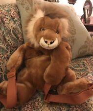 "AURORA PEEPLE PALS Lion plush kids childs zipper backpack EUC HTF  23"" #O5"