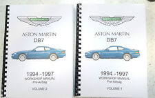 ASTON MARTIN DB7 WORKSHOP MANUAL 1994 TO 1997 (PRE AIRBAG) REPRINTED COMB BOUND