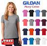 Gildan Ladies Heavy Cotton Blank T-Shirt Short Sleeve Casual Soft Comfort 5000L