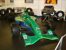 1/10 Lexan 1991 F1 Jordan GP 191 RC car body with decal for Tamiya F103 F104W