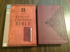 NIV Single Column Bible - $34.99 Retail - Cranberry Duotone