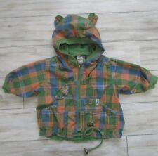 H&M Hennes & Mauritz Baby Boy Plaid Lizard Jacket Size 4-6 Months