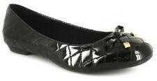 Standard Width (D) Wet look, Shiny Formal Flats for Women