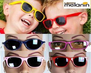 Lotto Stock 10 Occhiali Sole Bambino/a MELANIN Protezione Melanina UV 100%