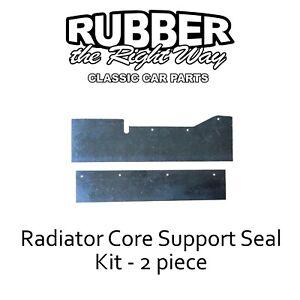 1966 1967 Oldsmobile Toronado Radiator Core Support Seal Kit - 2 pc.