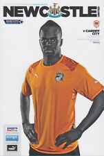 NEWCASTLE v CARDIFF 2013/14 MINT PROGRAMME 2014 CHEICK TIOTE COVER