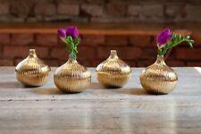 """Keramikvasenset Copenhagen """"Gold"""" (Set aus 4 Vasen), Handarbeit, Unikate, NEU!"""